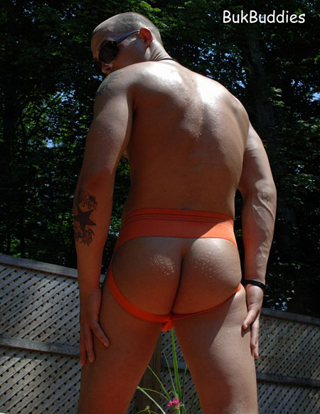 Bekims jockstrap framed ass