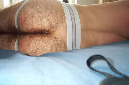 Another Hairy Ass in Jockstrap