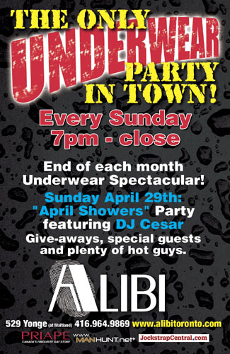 Underwear party alibi toronto