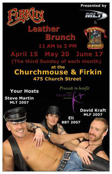 Churchmouse and firkin leather brunch and fundraiser toronto draw prizes from jockstrap central