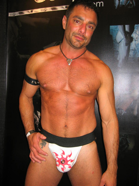 Tribal tattoo Jockstrap from kinkwear