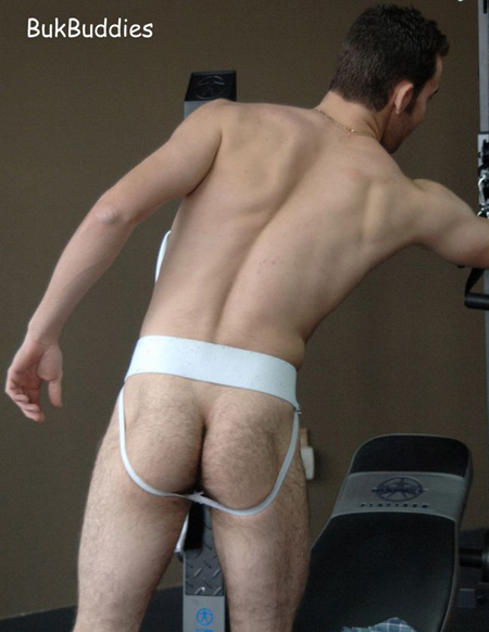 MARK BUKBUDDIES WHITE JOCKSTRAP JOCKSTRAP CENTRAL
