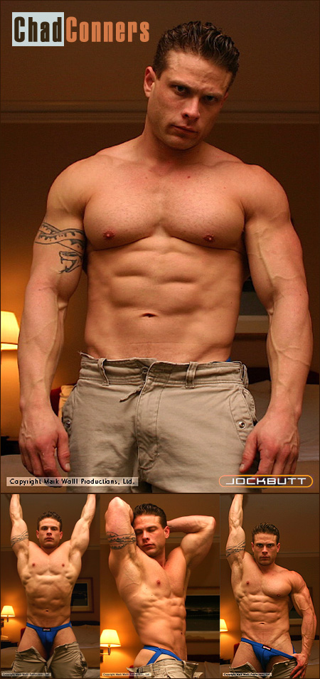 chad conners escort and body builder in a jockstrap