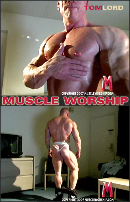 muscles pecs and ass cheeks of death in a jockstrap