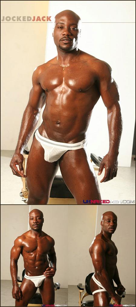 black guy in a jockstrap