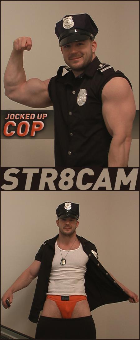 straight cop in a jockstrap