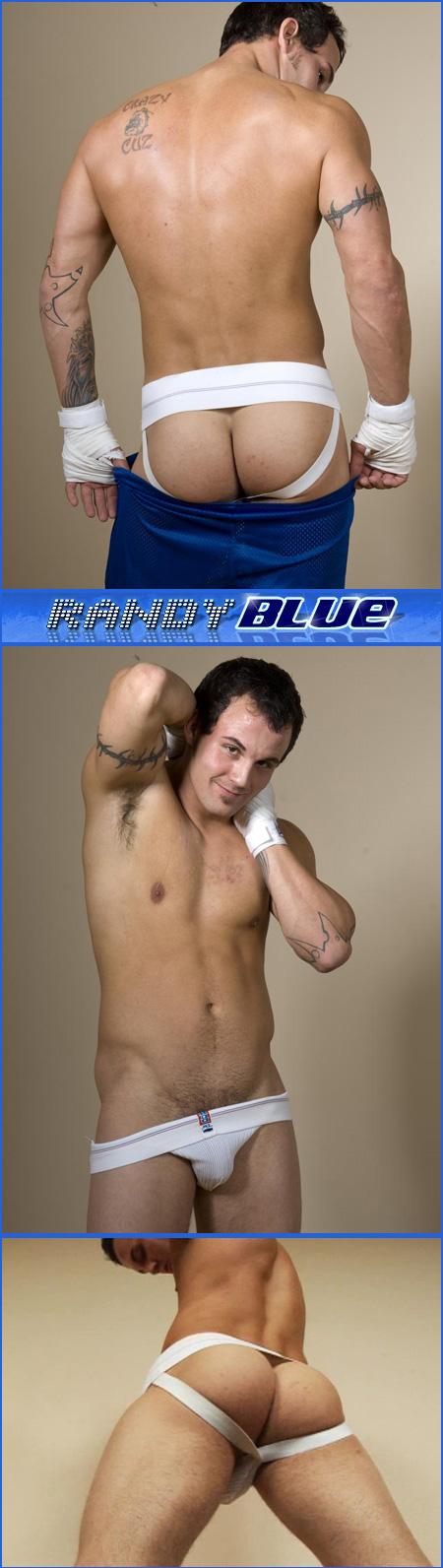 randy blue jockstrap set