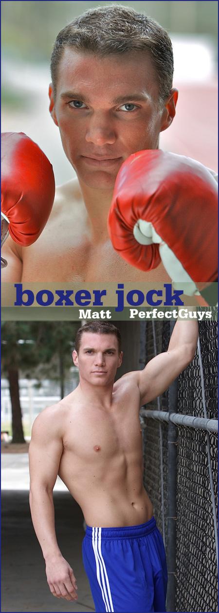 boxer in a jockstrap