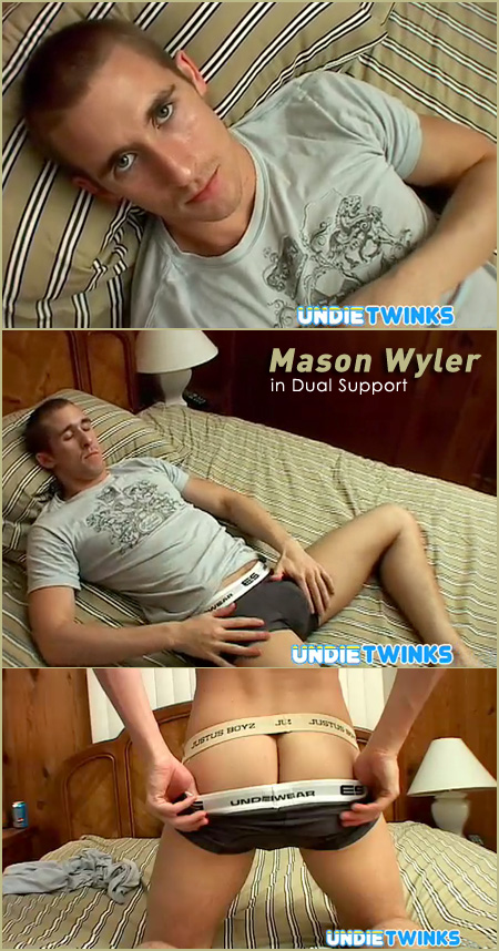 young guy in a jockstrap