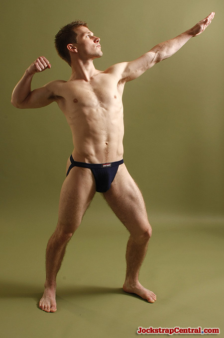 navy SafeTGard swimmer jockstrap