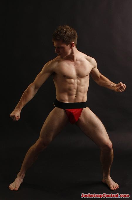red sports mesh jockstrap