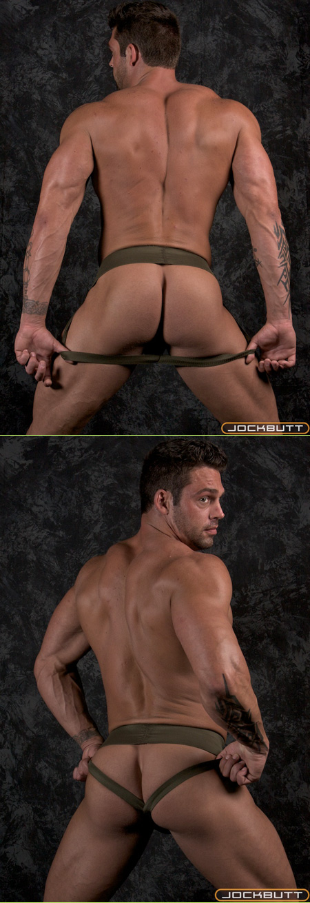 paul with a great ass in laceup jockstrap