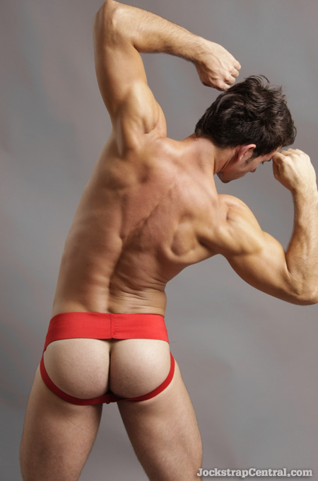 red athletic supporter
