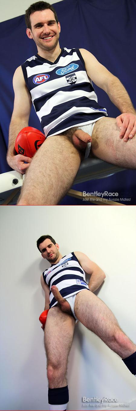 Australian footballer in a jockstrap