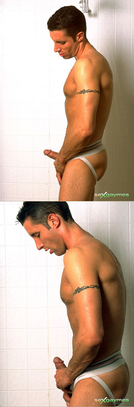 mick capra in a wet jockstrap