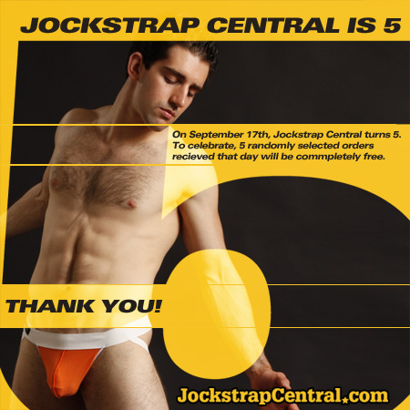 Jockstrap Central Turns 5 Years Old