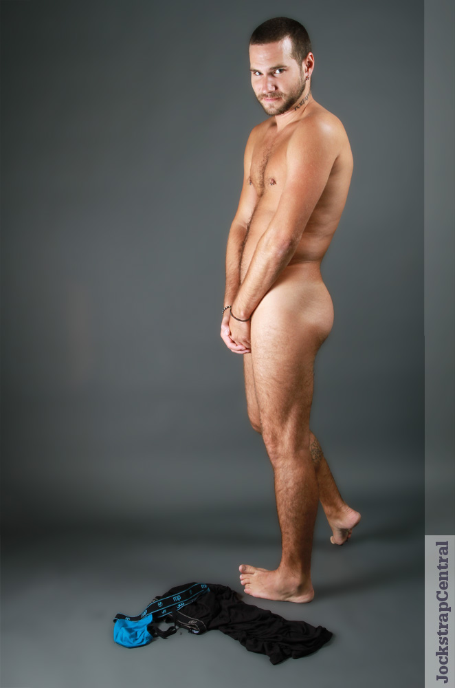 Model Adam Stray after the Jockstrap Central Photo Shoot