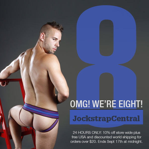Jockstrap Central Turns Eight