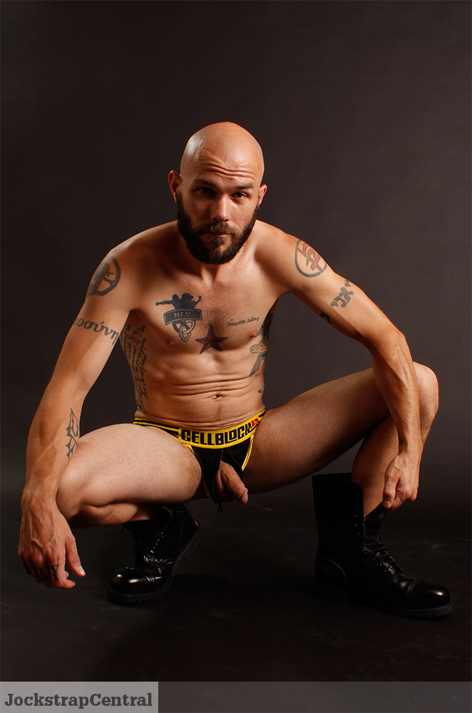 Mick wearing CellBlock 13's Ambush Jockstrap