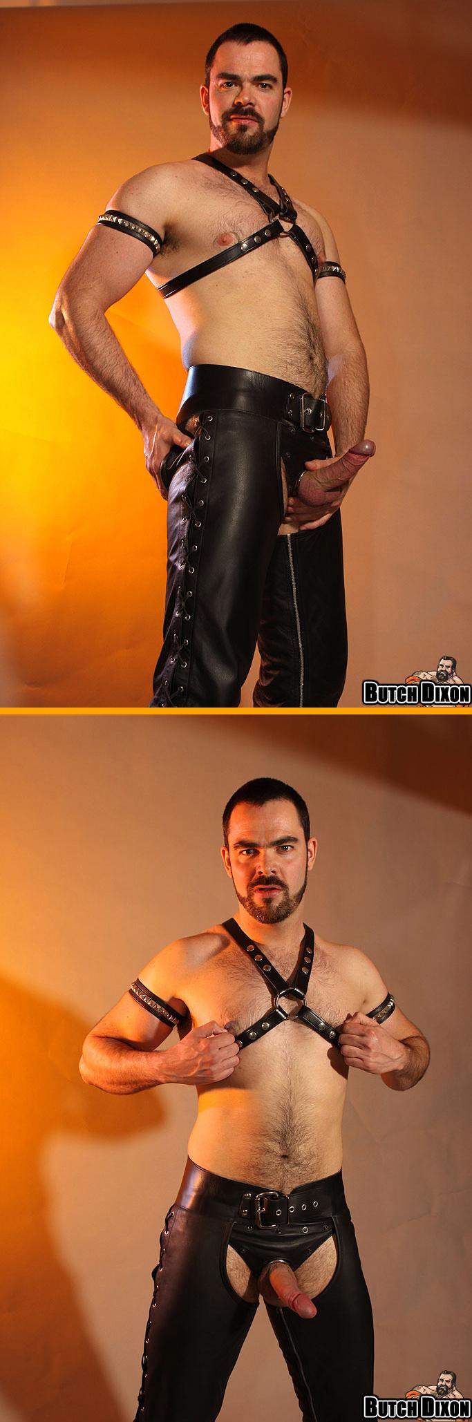 Dolan Wolf in a Leather Jockstrap