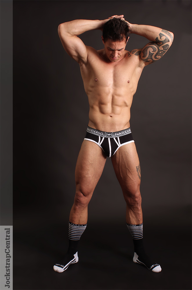 Nasty Pig XLR8 Brief featuring Jockstrap Central model Seamus