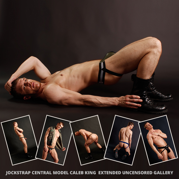 Jockstrap Central model Caleb King Gallery Launch