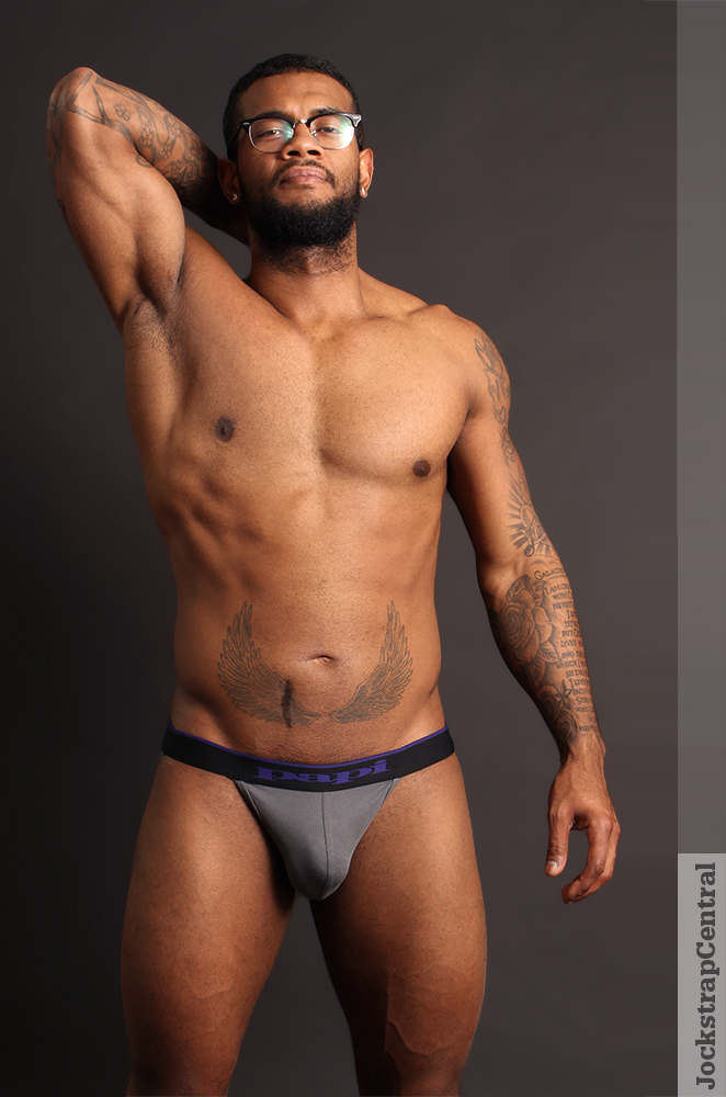 Jockstrap Central model Oscar in a Papi Stretch Jockstrap