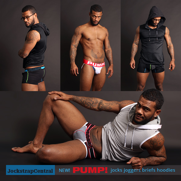 New PUMP! gear at Jockstrap Central