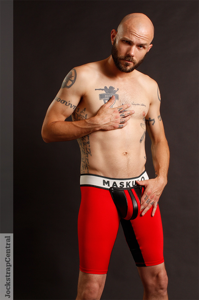 Maskulo Open Back Fetish Shorts