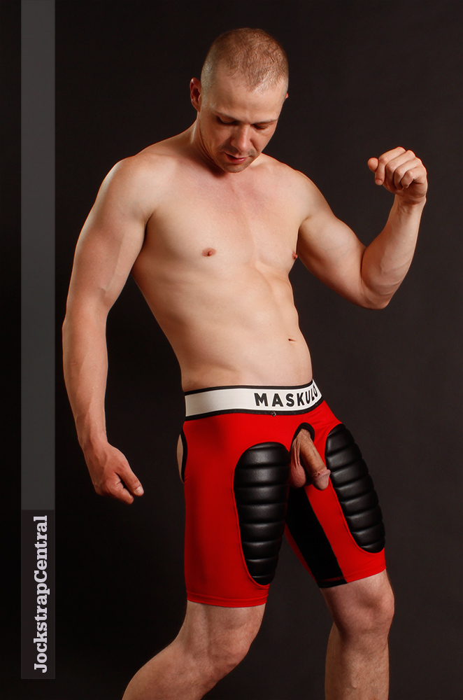 Maskulo Open Back Football Shorts with removable Cod Piece