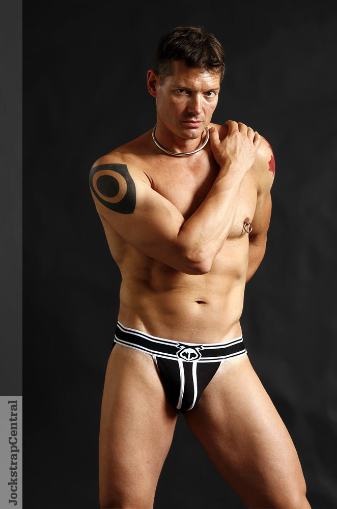 Jockstrap Central model Peter Rex in a Nasty Pig Takedown Jockstrap