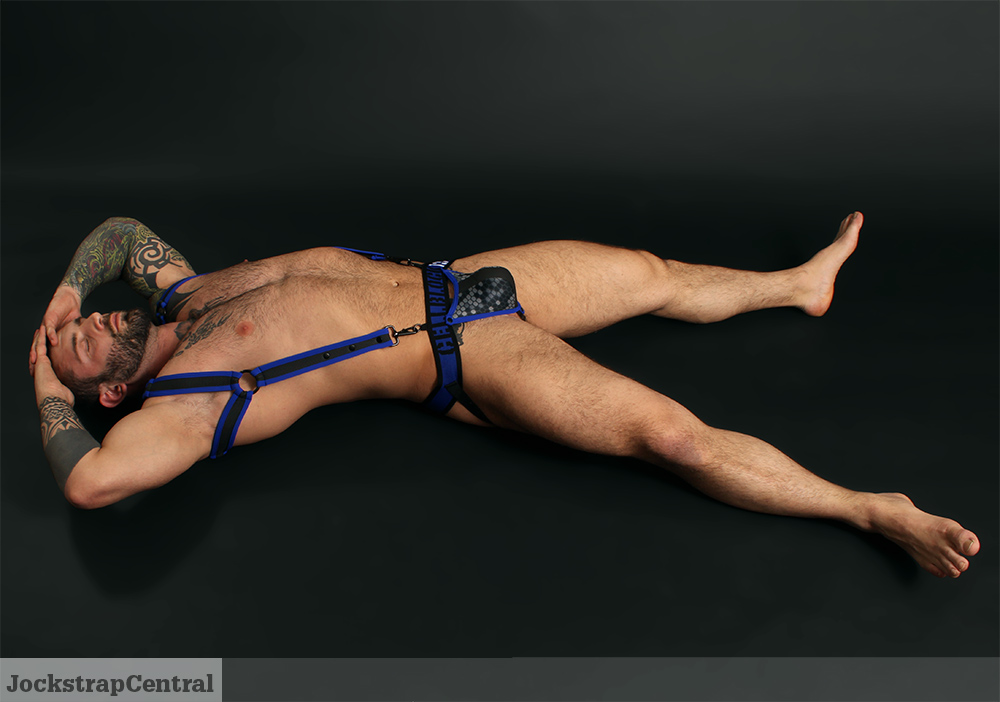 Simon in Cellblock 13 Cyber Xtreme Jockstrap and Harness