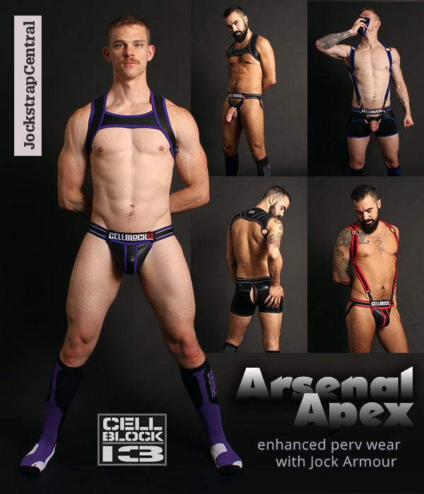Cellblock 13 Arsenal and Apex Jocks, Trunks, Harnesses and Socks