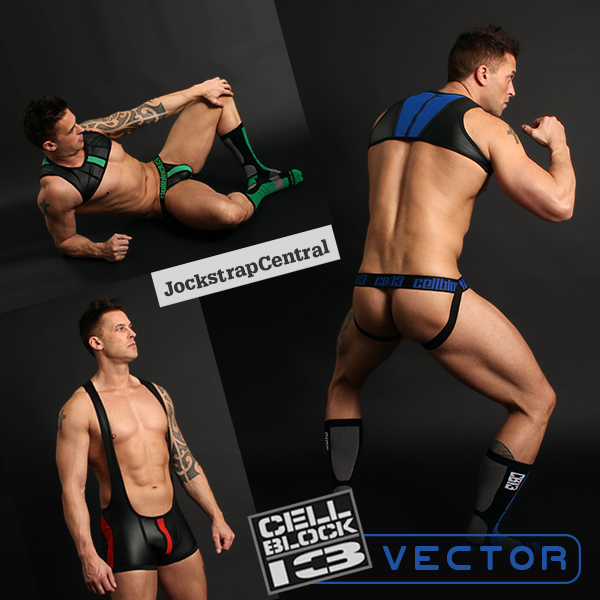 Cellblock 13 Vector Jockstraps, Harnesses, Wrestling Singlets and Socks