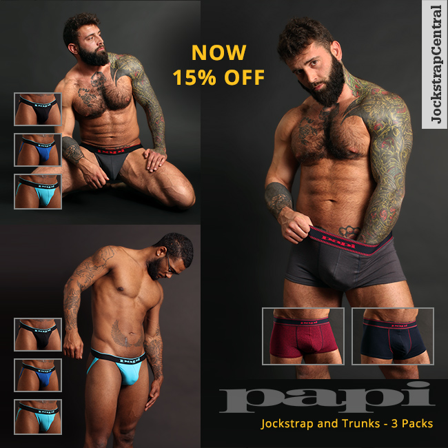 Papi Jockstrap and Trunks 3-Packs on Sale