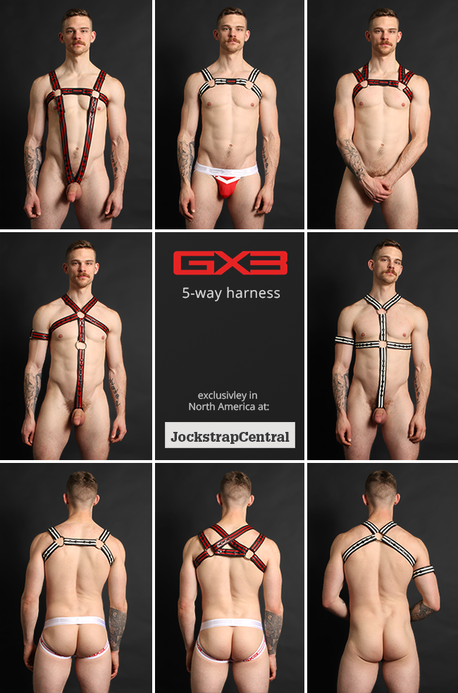 GX3 5-Way Neoprene Harness at Jockstrap Central