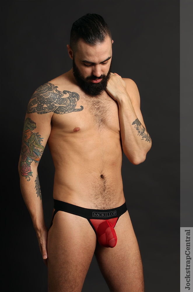 Jockstrap Central model Andrew in a McKillop Max Bulge Jockstrap