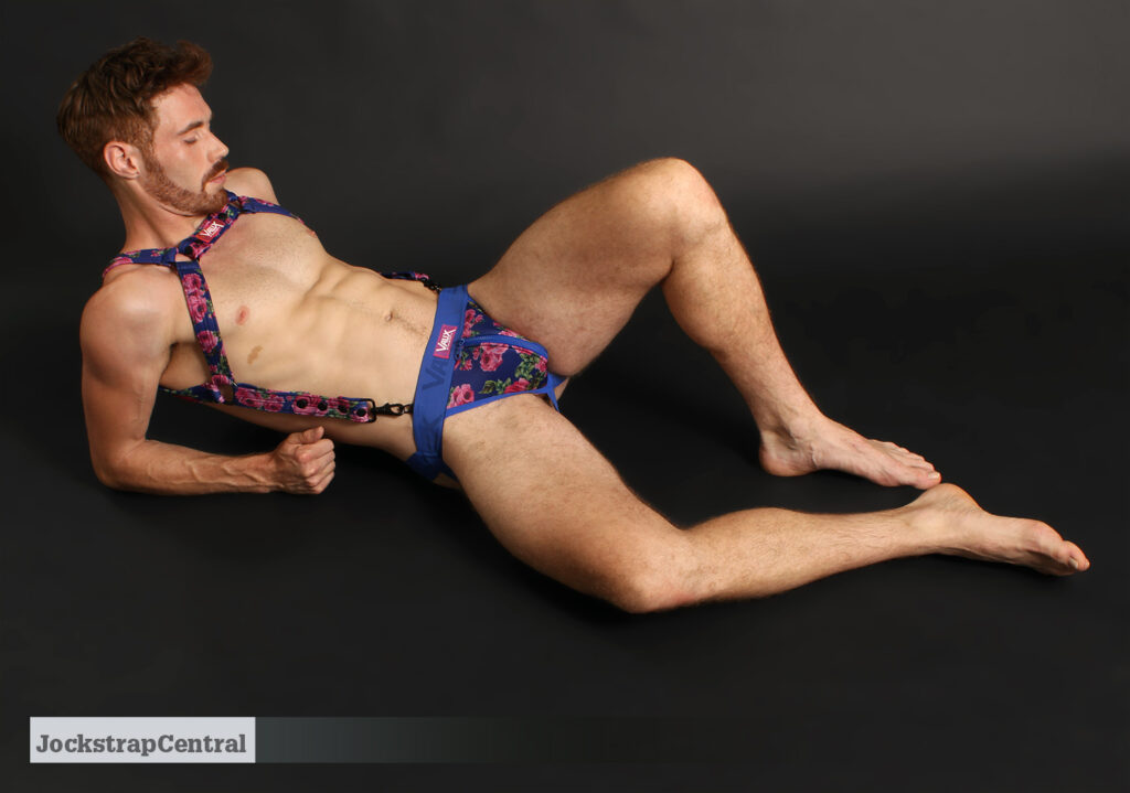 Jockstrap Central model Frankie in a Vaux VX2 Zipper Jockstrap and Harness