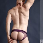 Mairtin in Puple Pulse Mesh Jockstrap